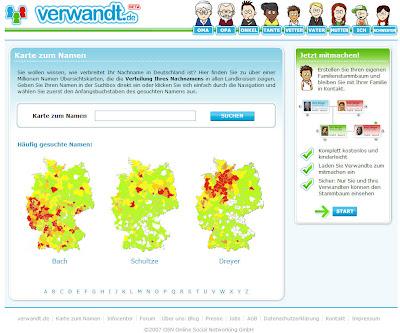 Verwandt De Karte.Landkartenblog Verwandt De Zeigt Woher Ihr Nachnahme Kommt