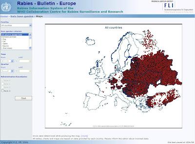 Landkartenblog Tollwut In Europa Osteuropa Hat Echt Ein Grosses