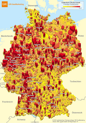 landkartenblog karte einwohnerdichte in deutschland. Black Bedroom Furniture Sets. Home Design Ideas