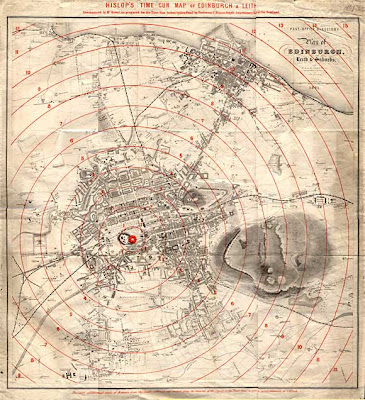 Landkartenblog: Time Gun Map von Edinburgh