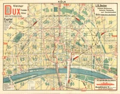 landkartenblog stadtplan von k ln aus dem jahre 1925 online. Black Bedroom Furniture Sets. Home Design Ideas
