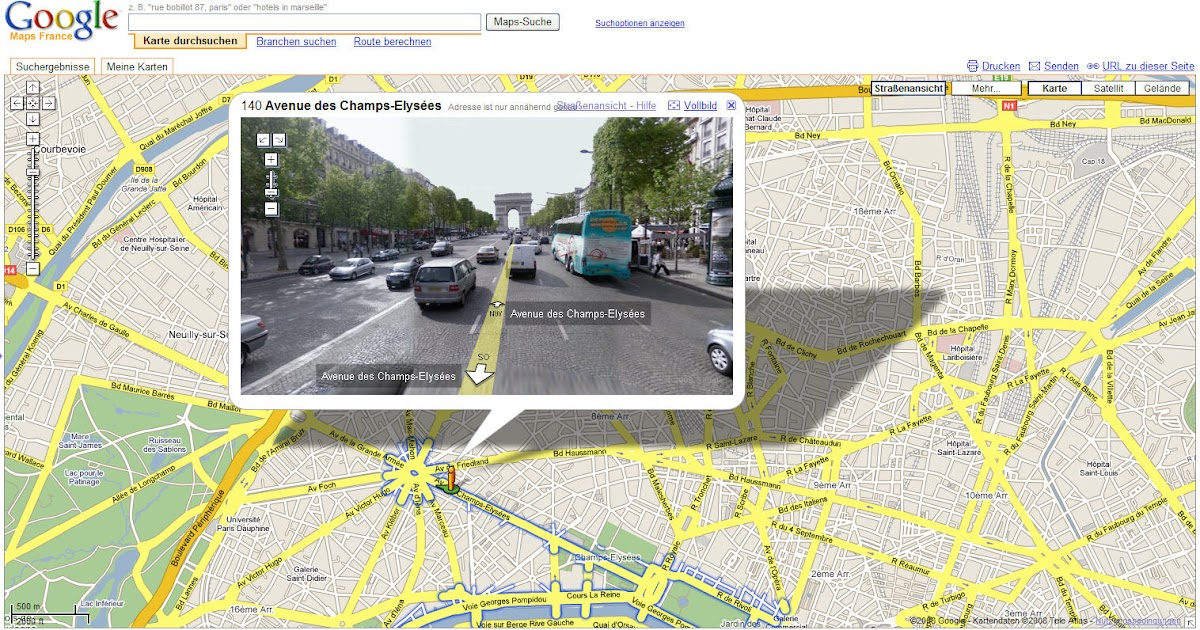 landkartenblog google streetview zeigt stra en der tour. Black Bedroom Furniture Sets. Home Design Ideas
