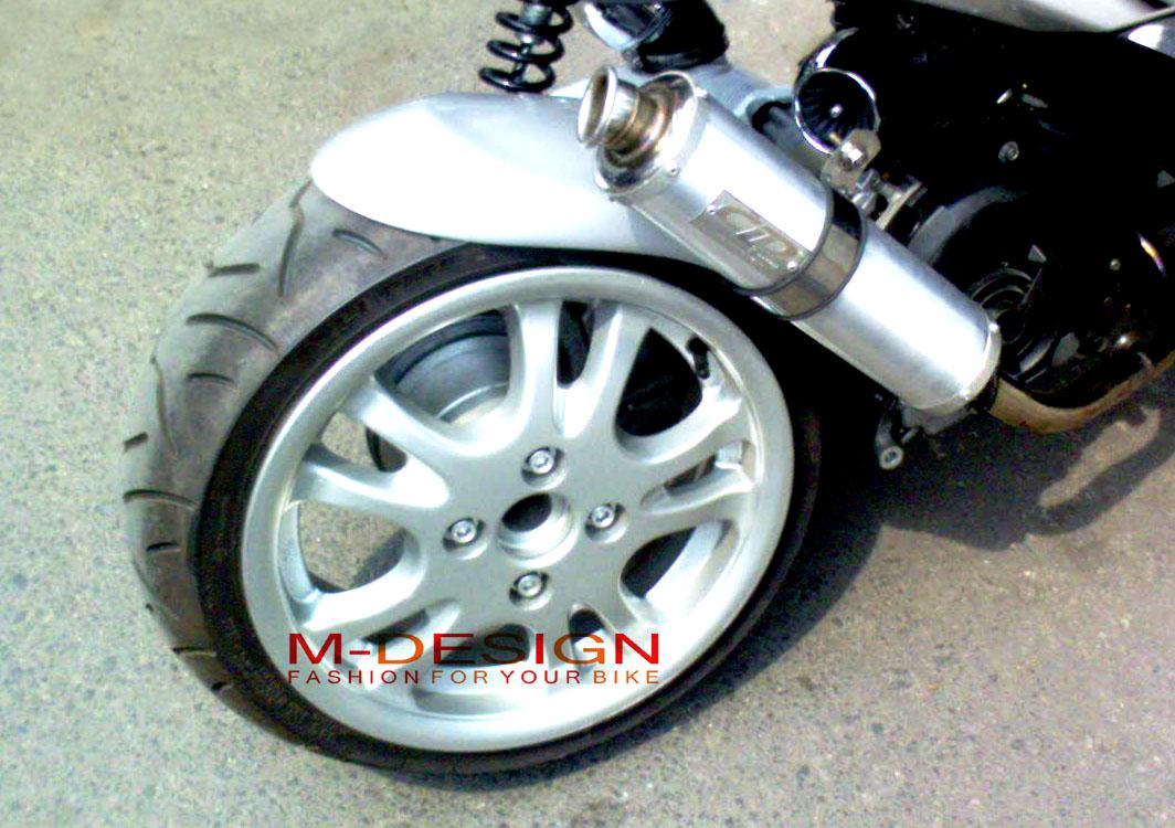 Modifikasi Honda Vario 125 Velg Lebar Lampak Modifikasi
