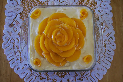 Peaches and Cream Rosette. So pretty, if I may say so myself.