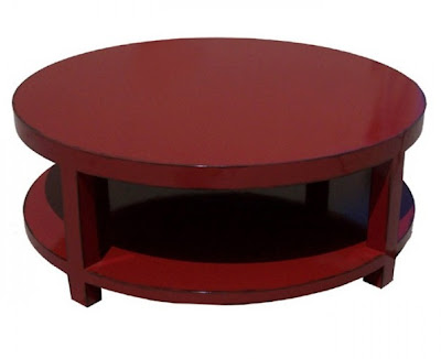 Red Round Coffee Table Jonathan Steele - Pottery barn red coffee table