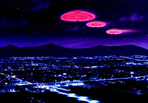 Andrew Stewart Space Art: UFO Sightings (Digital Image)