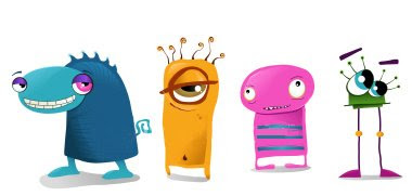 Cute And Happy Wallpapers Art Lure 50 Cute Monster Illustrations