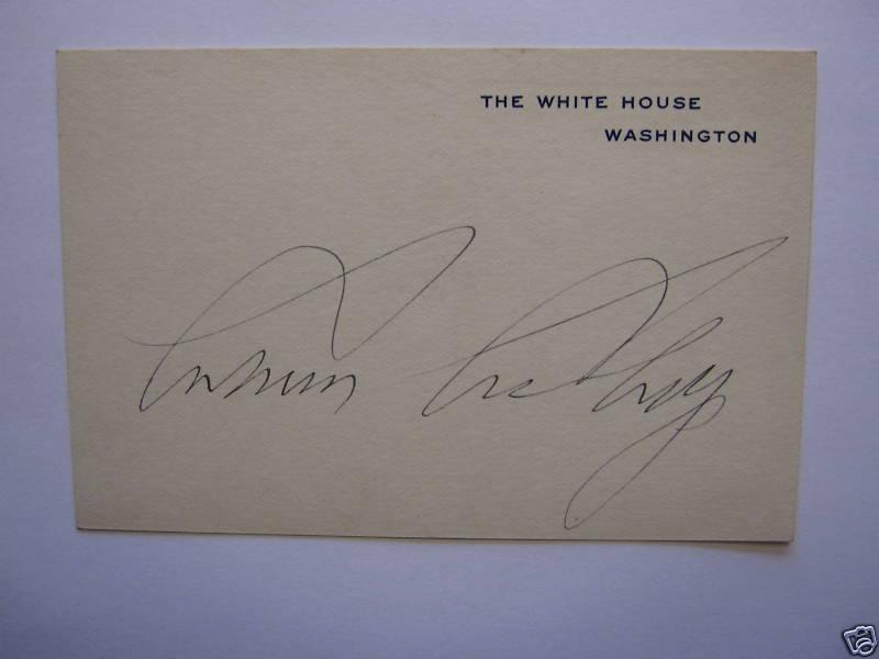 Autograph Value Guide Calvin Coolidge