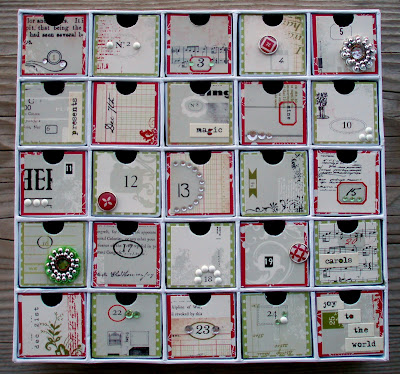 taylor stamped advent calendar. Black Bedroom Furniture Sets. Home Design Ideas
