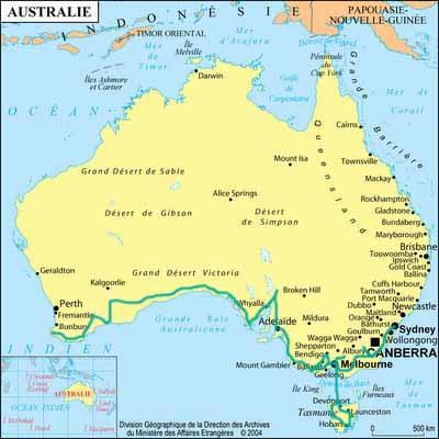 Carte Australie Surf.A Nous L Australie Fevrier 2008