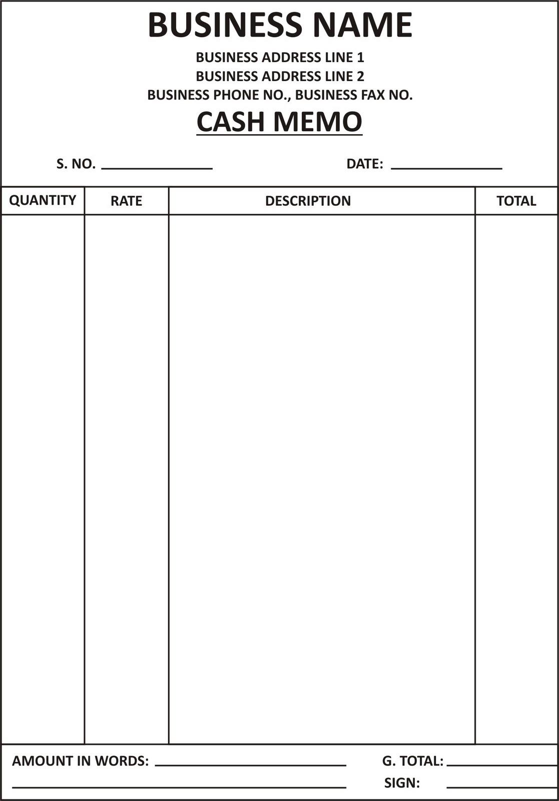 Tax Memo Template tax research memo cash memo format general – Memo Templates Word