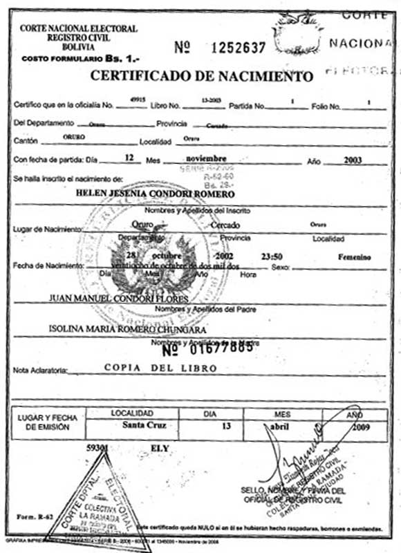 Documentos de identidad
