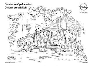 LarieCook banner: Kleurplaat Opel Meriva