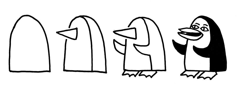 Kleurplaten Pinguin Printen Lariecook Banner Workshop Op School