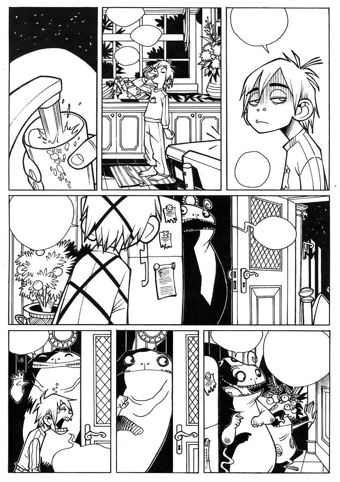 Una tavola di Federico Nardo per Il circo di Sinistro (Monster Allergy n. 24, Settembre 2005).