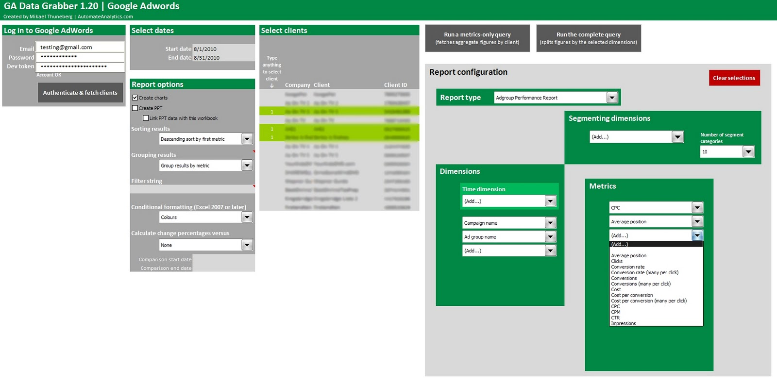 AdWords API solution for Excel now available - Supermetrics