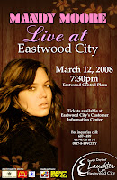 mandy moore live in eastwood city quezon city philippines