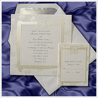 frolicking heart wedding invitation