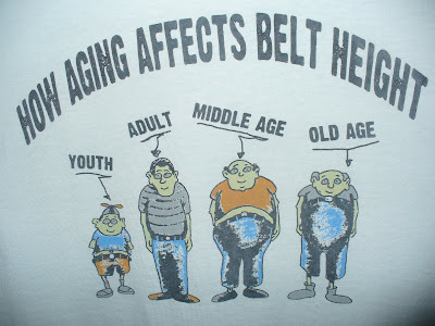 funny, aging, humor, belt height, men