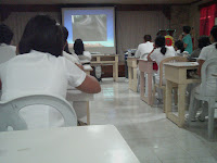 lecture during the orientation for training as nurse in Davao Regional Hospital
