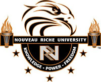 nouveau riche university logo falcon