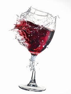breaking wine glass