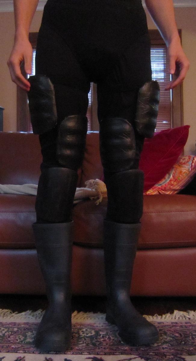 Chuck Does Art Diy Batman Costume Leg Armor