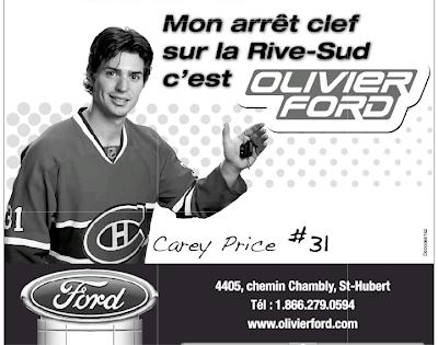 Carey Price Olivier Ford