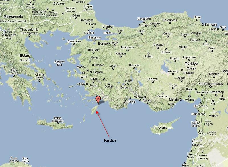 Isla De Rodas Mapa.Triangulo Equidlatere El Coloso De Rodas