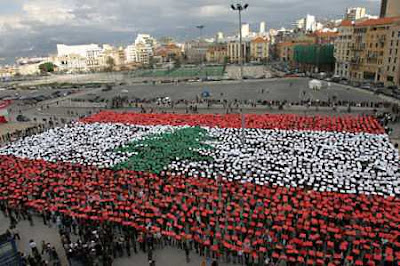 Free Lebanese Flag with Cardboards