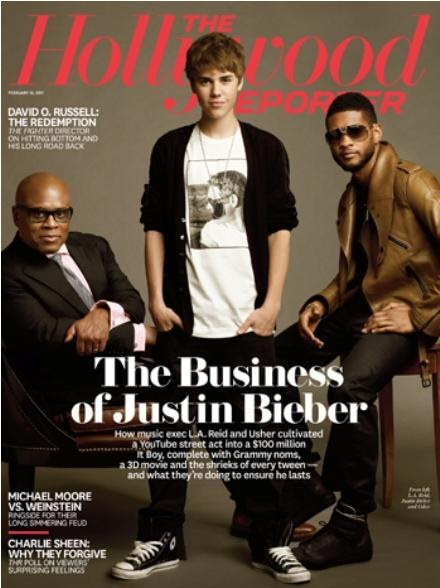 Beliebers Justin En La Portada De The Hollywood Reporter