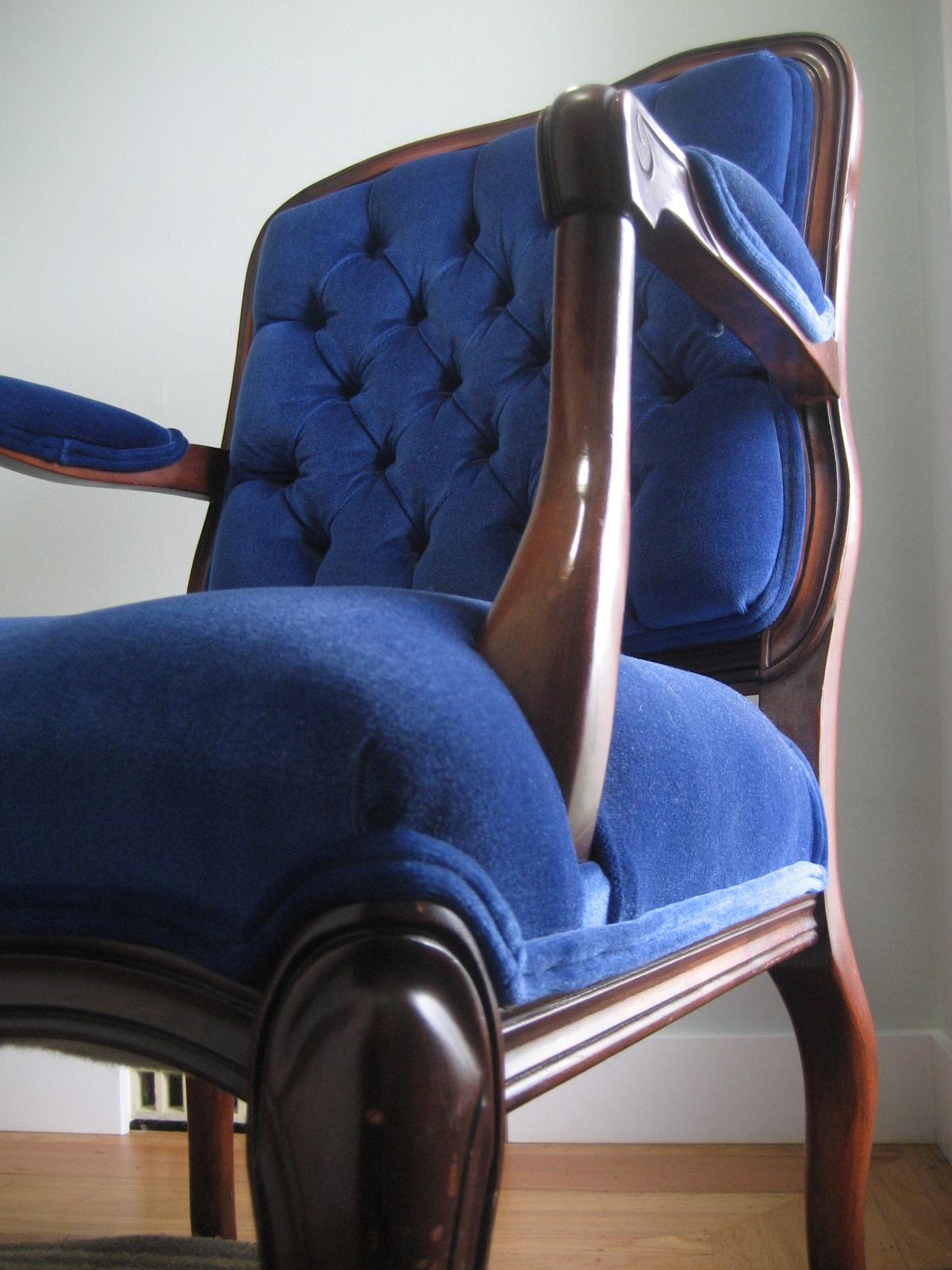 Royal Blue Chair Decor Pink Living Room: Six Balloons Vintage Delights: Royal Blue Victorian Velvet