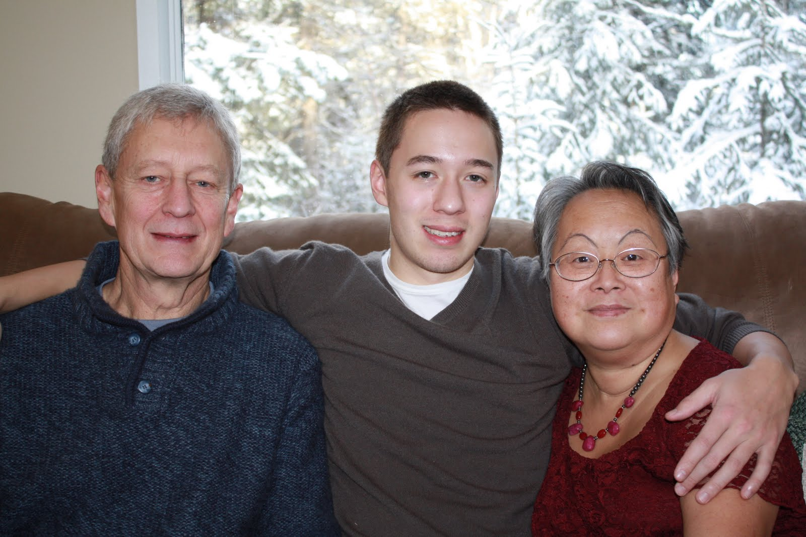 Poor kid. Oh yah, my Mom is the Chinese one in our family. My Dad is pure  white. Viking lineage he claims.