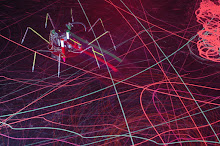 action of drawing spiders lars vaupel / blacklight installation barbara streiff