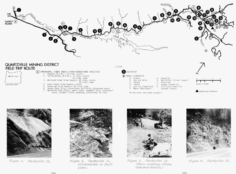 Treasure Hunting Quartzville Mining District Map