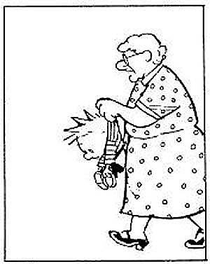 Giving Mirth: Ms. Wormwood, Calvin's teacher