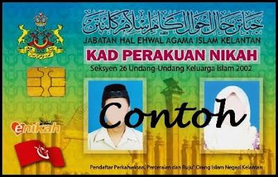 Kad Nikah Pintar Kelantan Berbagai Bekalan Rumah