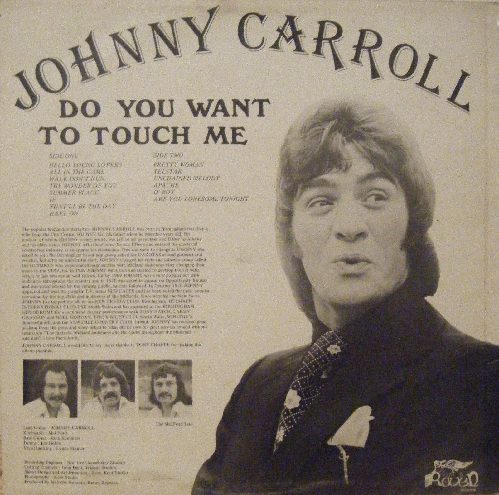 Popular Midlands Entertainer Johnny Carroll Do You Want