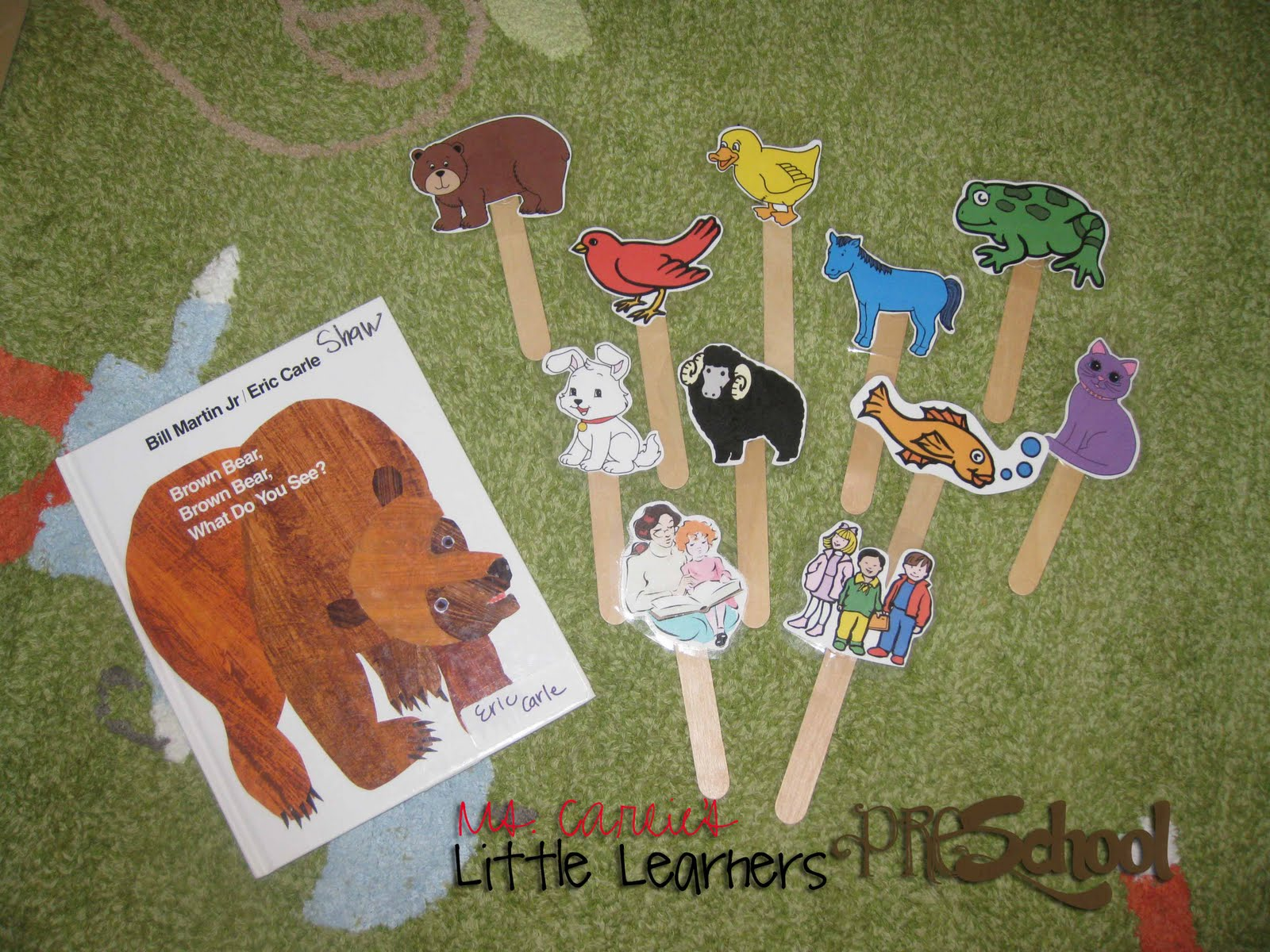 Popsicle Stick Animal Puppets Printable Templates