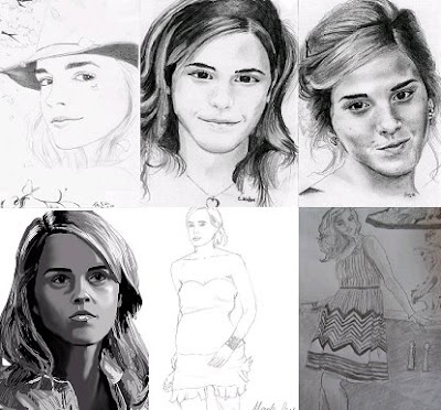 emma watson hand drawings