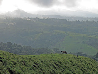 Erica Ridley in Costa Rica: storm clouds and Nicaraguan countryside