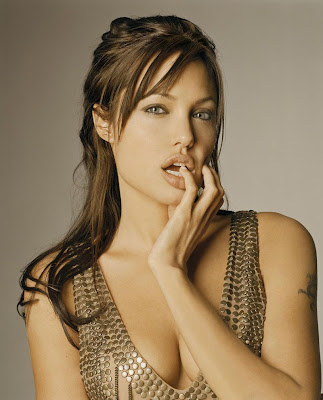 Angelina Jolie with Sarah Palin Hair Style