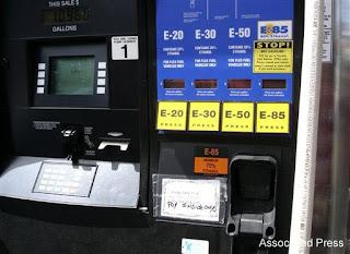 An ethanol gas pump in Granite Falls, Minn.