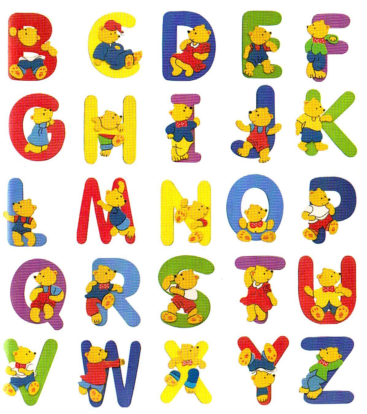 Letras do Alfabeto, desenhos e molde para colorir