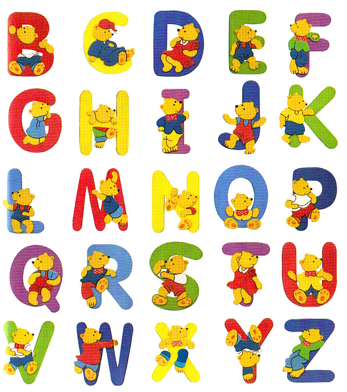 Ba da web letras do alfabeto desenhos e molde para colorir - Letras decorativas para habitaciones infantiles ...