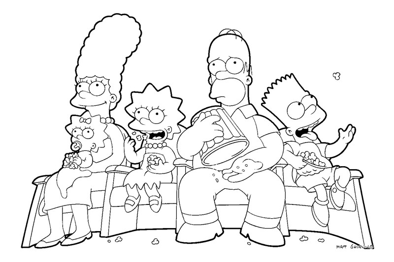 Baú Da Web: Desenho Dos Simpsons Para Colorir