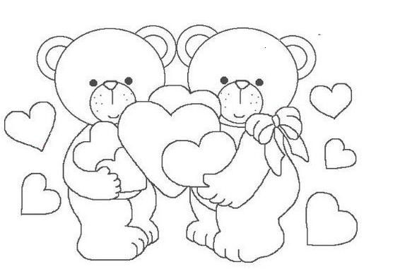 Baú Da Web: Desenhos De Ursos Apaixonados Com Coração