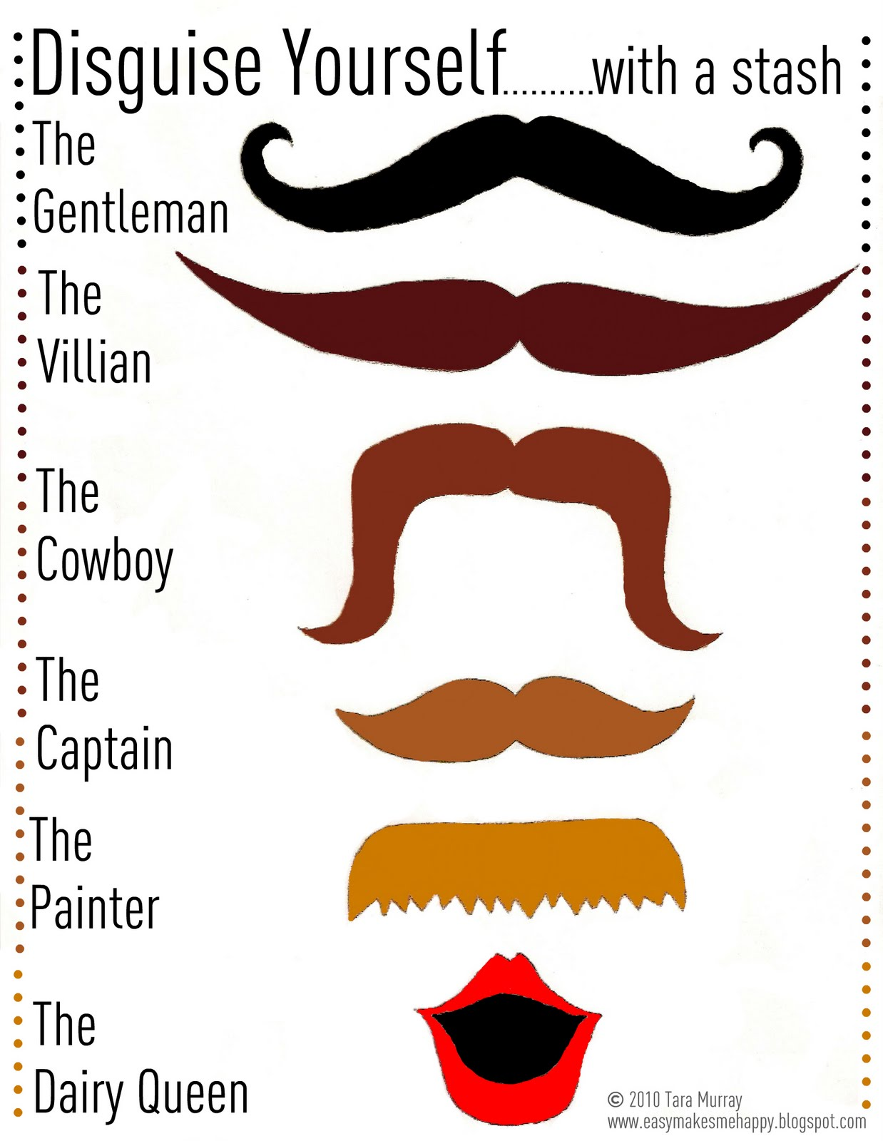 picture about Mustache Templates Printable called Mustache Conceal Printable Template mamachee