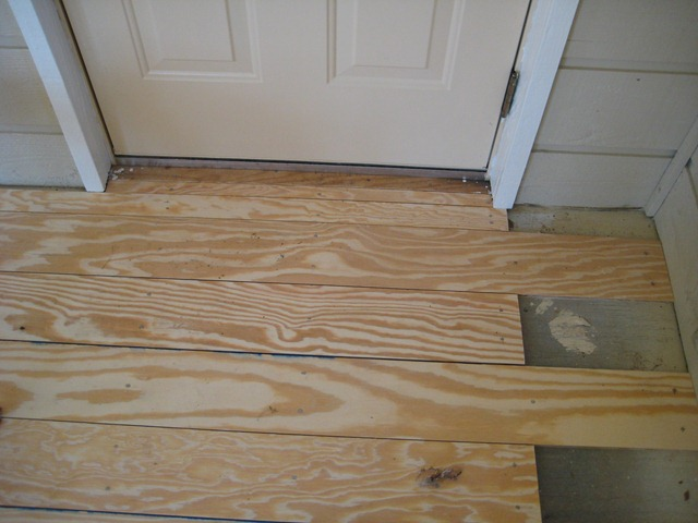 Diy plank flooring on the cheap with quarry orchard for Unusual inexpensive flooring ideas