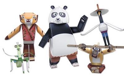 kostenlose papiermodelle kung fu panda. Black Bedroom Furniture Sets. Home Design Ideas